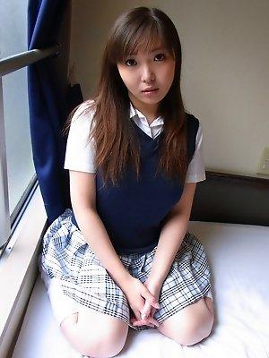 boobs,chubby,haruka ohsawa,japanese,posing,schoolgirls,solo,teen,uniform,upskirt,