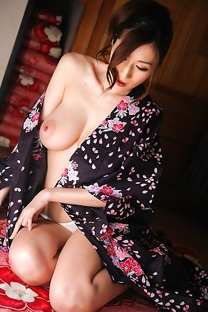 hairy, huge boobs, idols, japanese, julia, kimono, milf, solo,
